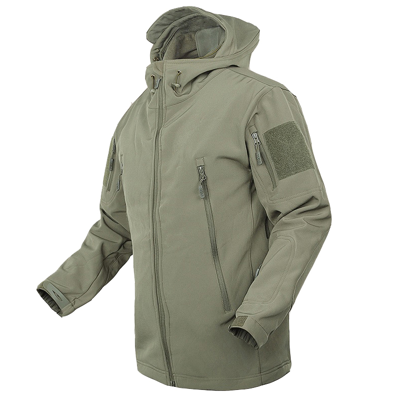 Jackets & Coats Lurker Shark Skin Soft Shell V4 Military Tactical Jacket Men Waterproof Windproof Warm Coat Camouflage Hooded Camo Army Clothing Street Price