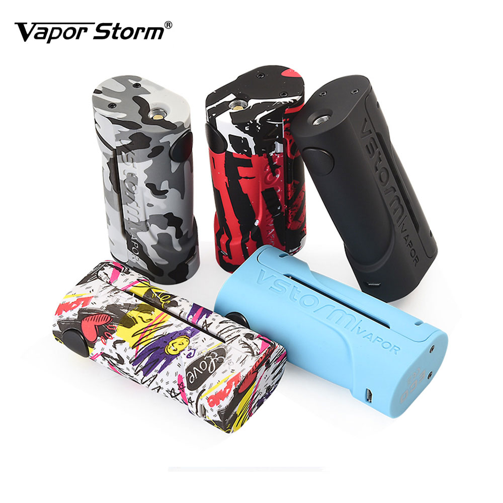 2018 New Vapor Storm ECO Box Mod 90W Max Out Put with 10s Continuous Vape Time No 18650 Battery Electronic Cigarette Vape Mod new 90w vapor storm eco kit w 2ml vapor storm tank powered by 18650 battery max 90w output vape box mod vs vapor storm storm230