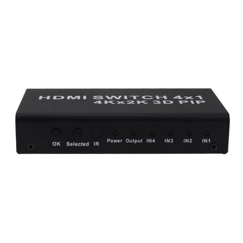 Alloyseed 4 to 1 HDMI1.4b Converter Switcher with PIP Function 4K 2K 3D Video Support ...