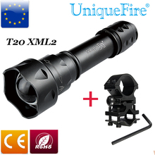1200 Lumens UniqueFire Light UF T20 XML2 5M Flashlight Gun Mount Zoomable Outdoor Lamp Torch Water