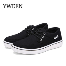 цена на YWEEN Men's Casual Shoes Lace Up Men Canvas Shoes Fashion New Flats For Men Breathable Shoes