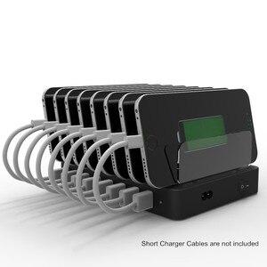 Image 5 - 8 Ports chargeur de bureau USB 96W multifonction USB Station de recharge Dock avec support ue US AU royaume uni prise pour téléphone portable tablette PC
