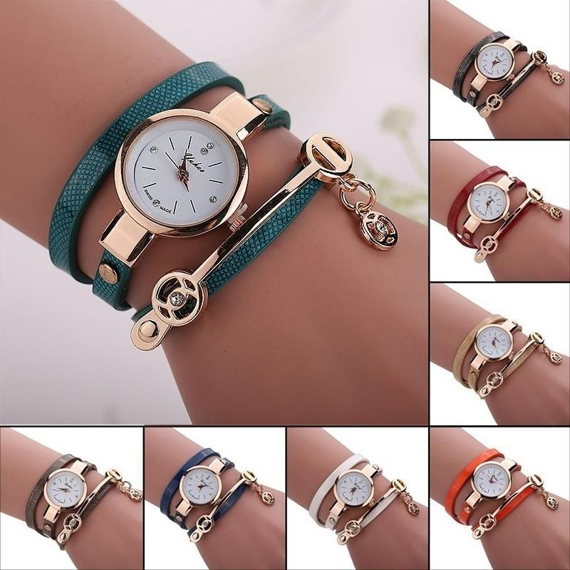 Fashion Summer Style Leather Casual Bracelet Watch