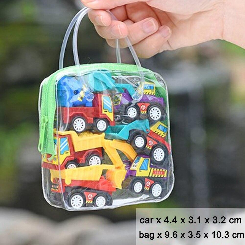 Diecasts & Toy Vehicles Confident 6pcs/bag Plastic Model Vehicles Mini Truck Children Education Gift Push Simulate Car Portable Boy Inertia Trailer Toy Set Kids