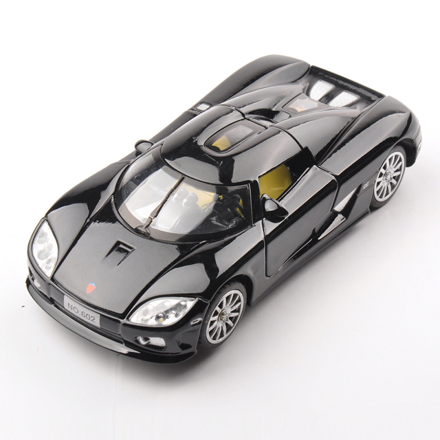 1:32 Koenigsegg Diecasts Electronic Black Car Model toys Collection four-door with light and sound