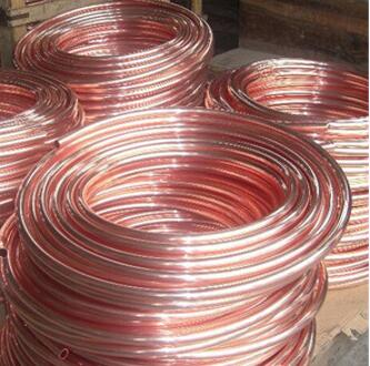 Length 3000mm OD6MM*1mm Red Copper Pipe Tube Capillary Tube Fridge And Air Conditioning For Refrigeration