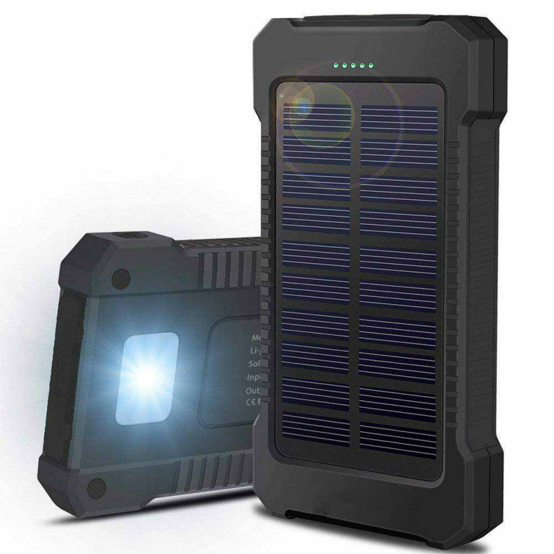Battery-Charger Solar-Power-Bank 30000mah Waterproof All-Phone Portable New For Dual-Usb