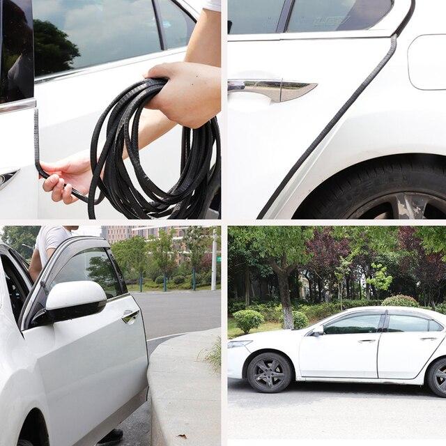 Universal 10 M Scratch Protetor de Borda Da Porta de Carro Tira de Vedação Guarnição Guarda Protetor de Porta Adesivos Decoração do Automóvel Do Carro styling