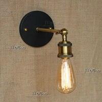 Loft retro matowy czarny żelazny odcień regulowane ramię wahadłowe czytanie kinkiety światła e27/e26 kinkiet do pracowni sypialnia bar cafe w Lampy ścienne od Lampy i oświetlenie na