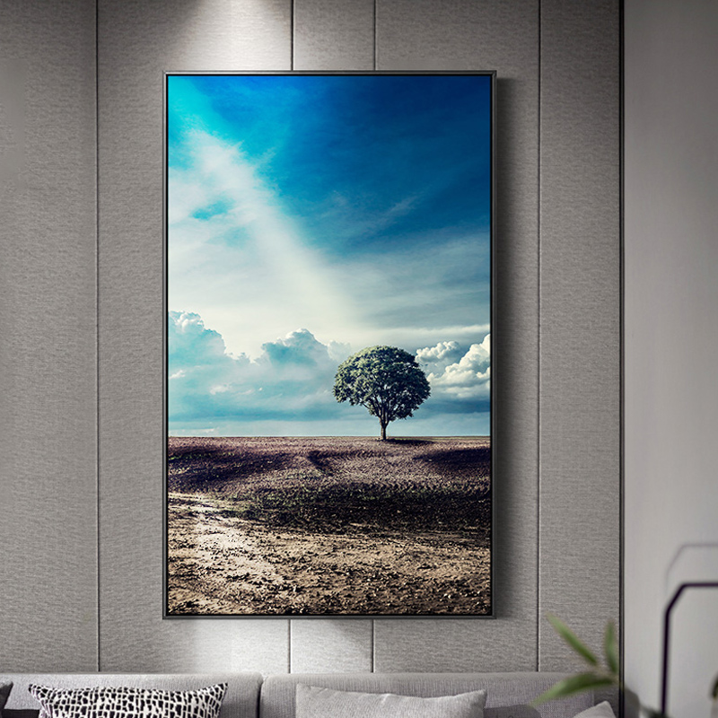 Modern Natural Scenery Tree Sea Desert Canvas