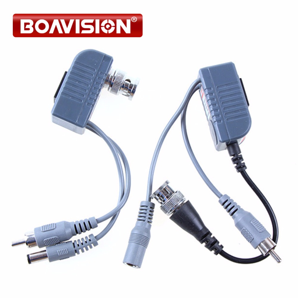 CCTV CAT5 RJ45 Balun Video Audio Power For Camera Passive Video Balun Transceiver single channel passive video balun grey silver 2 pcs
