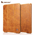 Jisoncase Genuine couro Stand Case para iPad Air & Air 2 Vintage caixa com Auto Sleep / Wake função para iPad Air & Air 2 capa