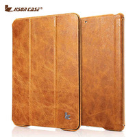 Jisoncase New Arrival Genuine Leather Stand Case For IPad Air Air 2 Vintage Case With Auto