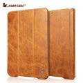 Jisoncase cuero genuino del caso del soporte para el iPad aire y aire 2 caja del Vintage con Auto función Sleep / Wake para el iPad aire y aire 2 cubierta