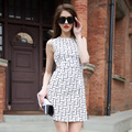 Veri Gude Summer Dress Women Elegant Geometric Dress Sleeveless Work Dress
