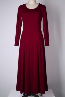 Летнее платье для женщин модное повседневное Макси платье размера плюс черные платья Бохо сарафан вечерние элегантные женские платья - Цвет: wine red long sleeve