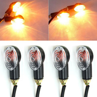 High Quality 4Pcs Universal Motorcycle LED Turn Signal Lamp 12V Flashing Blinker Indicator Light Amber Color