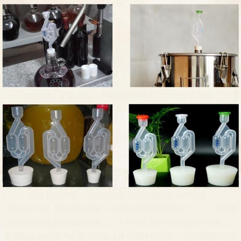 100% Waar Draagbare Wijn Gisting Gereedschap S-shape Air Lock Twin Bubble Tule Homebrew Bier Gisting Wijn Maken Bar Levert Y Voldoende Aanbod