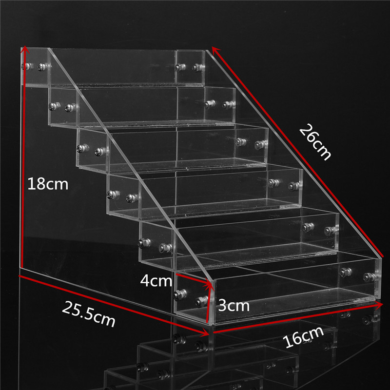 1 Pc Removable 6 Tiers Rack Acrylic Clear Nail Polish Cosmetic Varnish Display Stand Holder Manicure Tool Organizer Storage