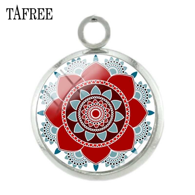 TAFREE Mandala wisiorki Charms srebro kolor gorąca sprzedaży Budddhist świętej geometrii hinduska henna jogi mężczyźni kobiety biżuteria CT323