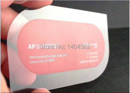 Promise On Quality,Free Design, Fashion Novel PVC Transparent Business Card,great Price Free Shipping DHL