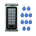 Envío Libre K2 RFID Botón Seguros de Puertas Eléctricos Con Digital + 10 Systemf ID Clave Fobs para Control de Acceso de la Puerta Con El Metal teclado