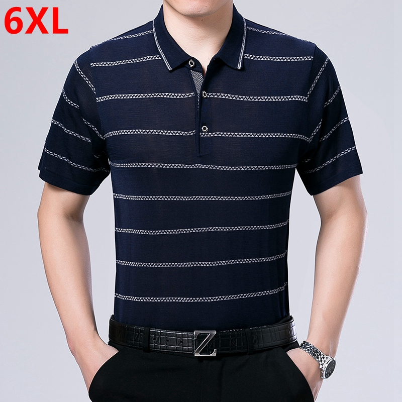 Plus size summer big code Dad loaded Large size   polo   shirt to the male short-sleeved   POLO   shirt 6XL 5XL 4XL 3XL