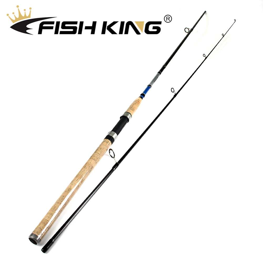 FISH KING 99% Carbon Spinning Fishing Rod 2.1m/2.4m/2.7m Lure Fishing Rod 2 Sections Lure W. 3-50g  For Squid Pike Fishing poleFISH KING 99% Carbon Spinning Fishing Rod 2.1m/2.4m/2.7m Lure Fishing Rod 2 Sections Lure W. 3-50g  For Squid Pike Fishing pole