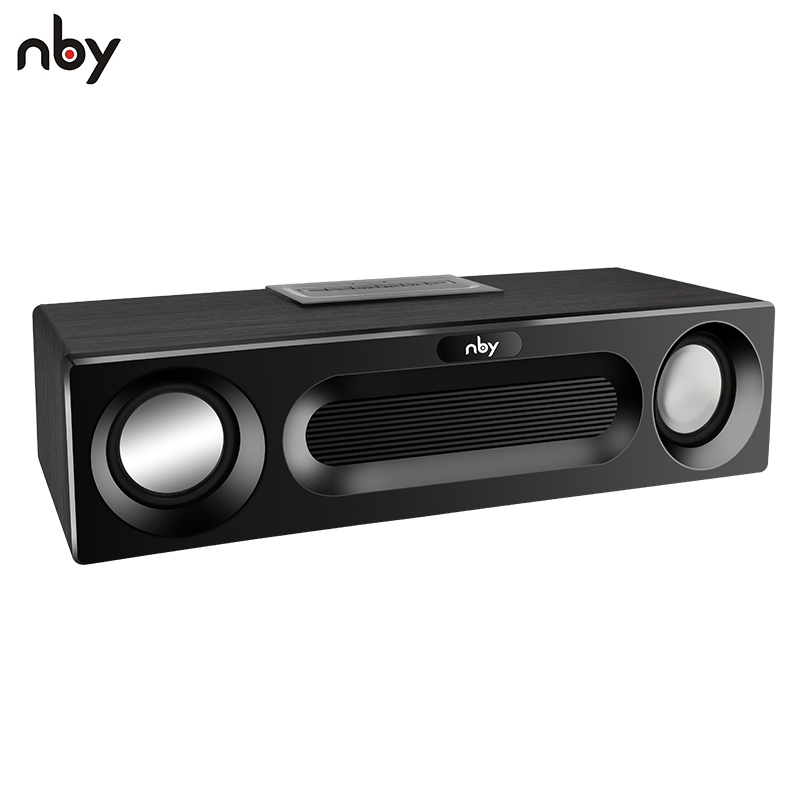 NBY 5590 Portable Bluetooth Speaker 20W System Sound System 3D Stereo Music Surround Subwoofer Wireless Speakers for Computer 360 rotating bluetooth wireless speaker stereo subwoofer sound smart levitation multi function music surround creative handsfree