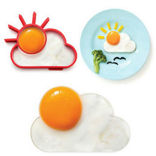 1Pcs Silicone Egg Mold Sun Clouds Shaped Pancakes Omelette Device Egg Tool Kitchen DIY Creative Breakfast Fried Egg Mold