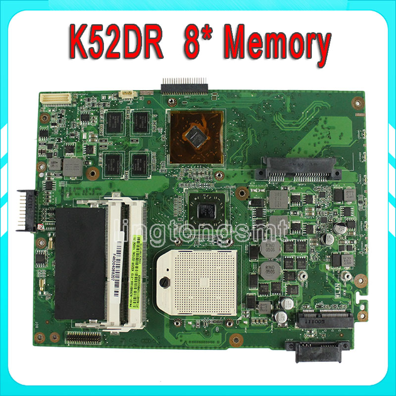for ASUS K52DR laptop motherboard A52DE K52DE A52DR K52D K52DY Notebook mainboard HD5470 8pcs memory video card 100% tested for asus k43sv k43sj laptop motherboard 1g video card k43sv l new mainboard gt520m rev2 2