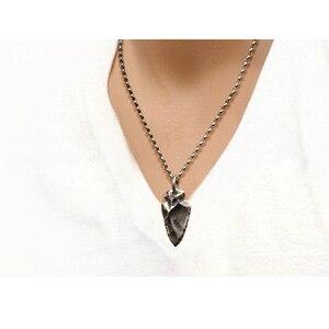 Image 3 - Männer halsband, mode personalisierte männlichen thai silber kette kurze halskette 925 silber vintage Stein anhänger, jungen zubehör, geschenk
