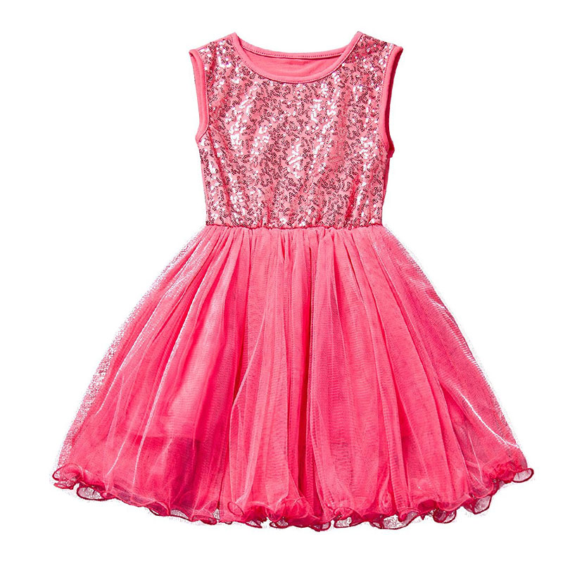Sequins Princess Tulle Ball Sleeveless Kids Dresses Children Baby Girl Clothing Lace Party Fancy Dress Girls Birthday Clothes summer 2017 new girl dress baby princess dresses flower girls dresses for party and wedding kids children clothing 4 6 8 10 year