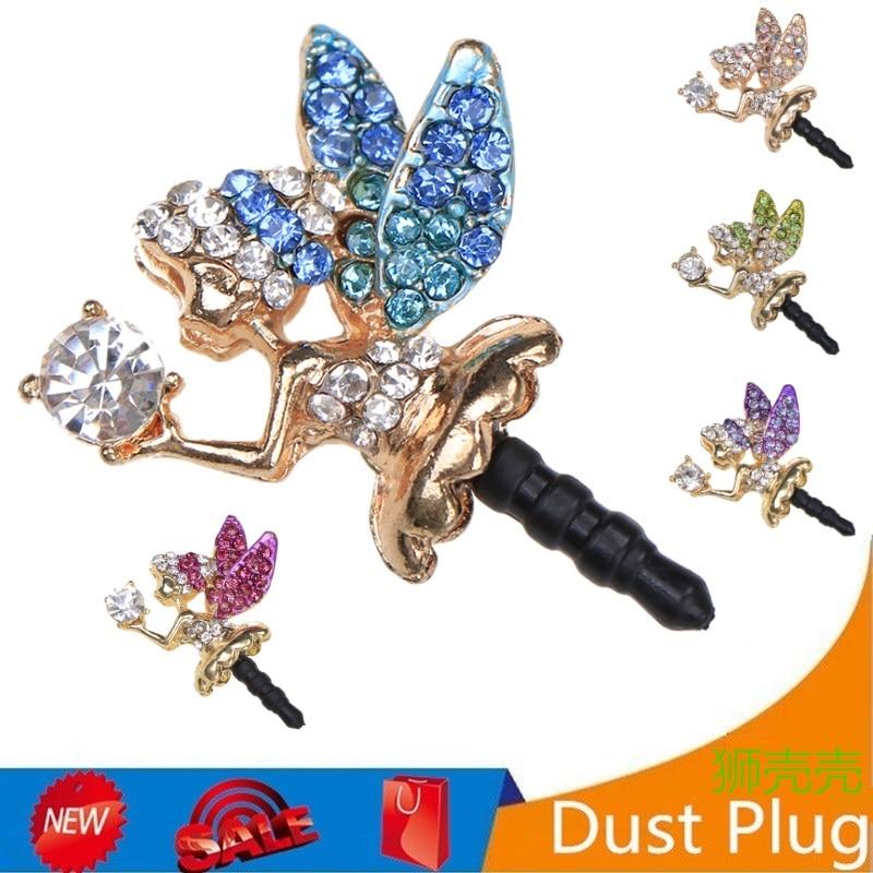 Anti Dust Plug Fashion Phone Luxury Rhinestone Headphone 3.5mm Headset Plugs Smartphones Accessorie Earphone dustproof Dust Plug