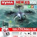 Syma x5hw fpv rc quadcopter zangão com câmera wi-fi hd 2.4g quadrocopter 6-axis rc helicóptero vs jjrc h8c toys com 6 bateria