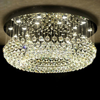 Z Modern Fashion Round Base Crystal LED Lamp Hanging Chandelier Lighting Luxury Crystal Ceiling Lights For