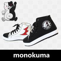 2019 New Anime Danganronpa Monokuma Cosplay Props Canvas Shoes Women Men Teens Sports Shoes Daily Casual Outdoor Travel Shoes