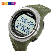 SKMEI Heart Rate Sports Watches Outdoors Digital Wristwatches Calorie Tracking Pedometer LED Alarm Clock Military Watch 1058