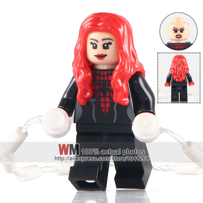 Straightforward Wm Building Blocks Single Sale Pg208 Spider Girl Marvel Super Hero The Avengers Venom Deadpool Bricks Kids Diy Toys Pg8057 Online Discount Toys & Hobbies