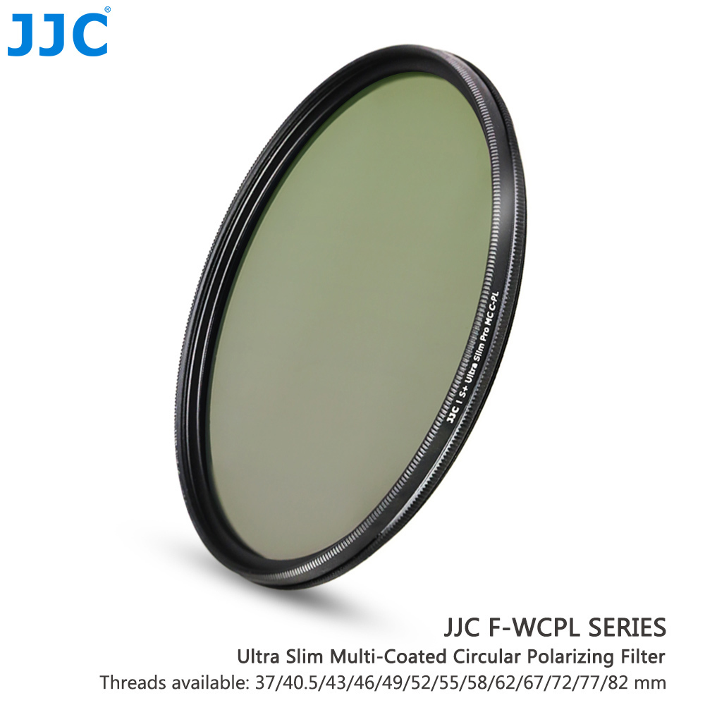 JJC Camera Lens 37mm/40.5mm/43mm/46mm/49mm/52mm/55mm/58mm/62mm/67mm/72mm/77mm/82mm 99.8% Ultra Slim Multi-Coated CPL Filter