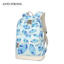 Муравьи сильный шт холст школьная сумка/многофункциональный дамы сумка новый рюкзак подарок на день рождения