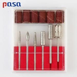 Image 5 - 6Pc Nail Art Drill Bit Replace Sandpaper Head Set with Case Gel Polish Tips Grinding Polishing Shaping Machine Rotary Tool Kits