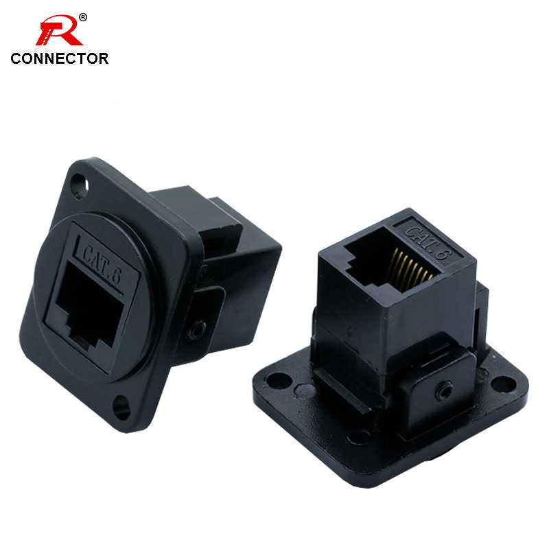 1pc RJ45 Connector, CAT.6, D type, metal material, panel mount chassis, RJ45 Female Socket