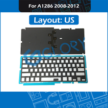 US Layout A1286 Keyboard Backlight For Macbook Pro 15.4″ 2008 – 2012 Keyboard Backlit Replacement