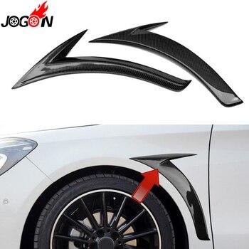 Sợi Carbon Cho Mercedes Benz CLA Lớp C117 CLA180 CLA250 CLA200 CLA45 2014 2015 Xe Side Cơ Thể Fender Không Khí Cánh vent Bìa Trim