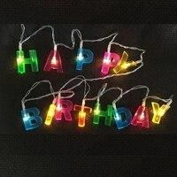 1.6 м с днем рождения фонарь свет строка Банкетный деятельности украшения письмо свет батареи Тип лампы на день рождения украшения