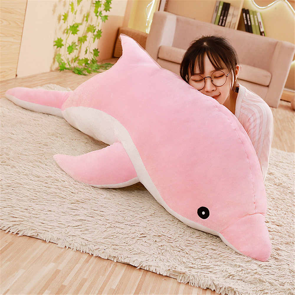 30cm Kawaii Soft Dolphin Plush Toys Dolls Stuffed Down Cotton Animal Nap Pillow Creative Kids Toy Christmas Gift For Girls