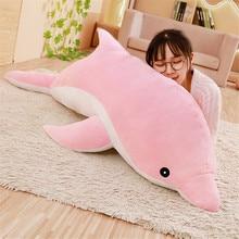 30 см мягкие плюшевые игрушки Kawaii Dolphin, куклы, набивные вниз, хлопок, животные, подушка для сна, креативная детская игрушка, рождественский под...