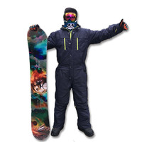 Saenshing Ski Jacket Men Winter Waterproof Thick Warm Snowboard Jacket One Piece Ski Jumpsuit Sport Snowboard