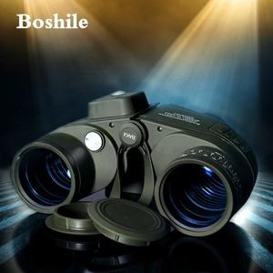 Image 3 - Boshile משקפת 10x50 ימי מקצועי משקפת עמיד למים דיגיטלי מצפן ציד טלסקופ גבוהה כוח Lll ראיית לילה